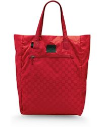 Gucci | Large Fabric Bag | Lyst