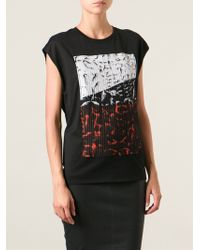 Helmut Lang Printed Applique Tank Top - Lyst