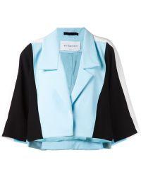 Viktor & Rolf Colour Block Crop Jacket - Lyst