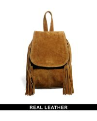 Asos Suede Mini Backpack with Fringing - Lyst
