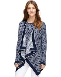 Brooks Brothers Supima Cotton Jacquard Cardigan - Lyst