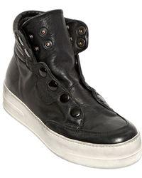 BB Bruno Bordese | 30Mm Snap Calfskin High Top Sneakers | Lyst