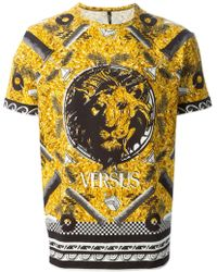Versus  Lion Head-Print T-Shirt - Lyst