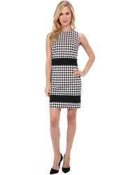 Michael by Michael Kors Petite Sleeveless Ponzano Band Dress - Lyst