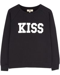 Rika Black Lola Kiss Sweatshirt - Lyst