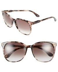 Bottega Veneta 57Mm Retro Sunglasses - Havana Rose - Lyst