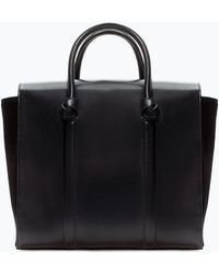 Zara Shopper Bag with Knots - Lyst