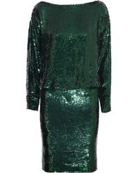 Givenchy Sequined Silkcrepe Dress in Emerald - Lyst