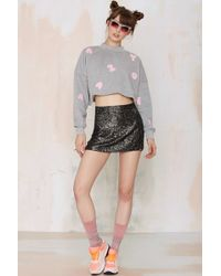 Lazy Oaf - To The Letter Crop Sweatshirt - Lyst