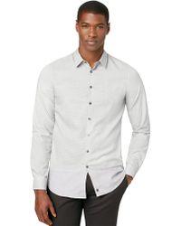 Calvin Klein Slim Fit Dobby Woven Sport Shirt - Lyst