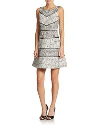 Jessica Simpson Patterned Fit and Flare Dress - Lyst