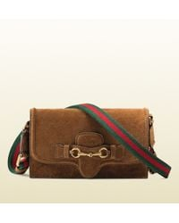 Gucci Lady Web Leather Convertible Wallet - Lyst