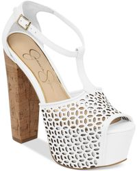 Jessica Simpson Dany Perforated Platform Sandals - Lyst