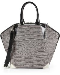 Alexander Wang Prisma Emile Embossed Leather Tote - Lyst