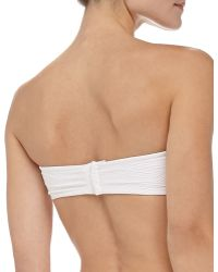 Shoshanna Thessaly Textured Bandeau Swim Top - Lyst