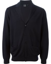 Paul Smith Notched Lapel Cardigan - Lyst