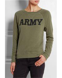 NLST   Army Cotton-terry Sweatshirt   Lyst