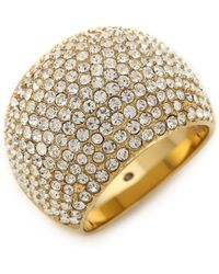 Michael Kors - Pave Dome Ring - Gold/Clear - Lyst