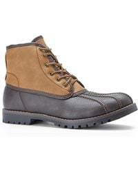 Steve Madden Brown  Tan Crtlnd Utility Boots - Lyst