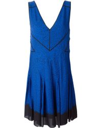 Proenza Schouler Seamed Empire Line Dress - Lyst