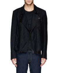 Ann Demeulemeester Fleece Wool-blend Biker Jacket - Lyst