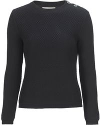 Stefanel Honeycomb Stitch Cotton Sweater - Lyst