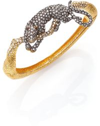 Alexis Bittar Elements Moonlight Crystal Panther Bangle Bracelet - Lyst