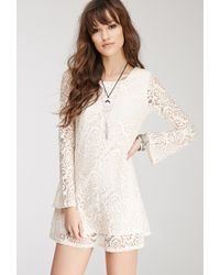 Forever 21 Lace Shift Dress - Lyst