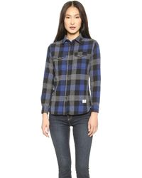 Penfield - Chatham Buffalo Plaid Shirt - Blue/Black Plaid - Lyst