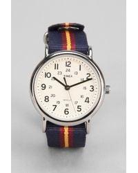 Timex - Striped Band Weekender Watch - Lyst