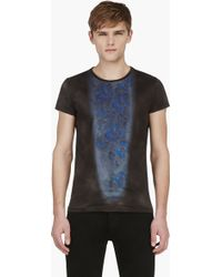 Diesel Black Gold Grey Tropical Print Tennesi Slim Fit T_shirt - Lyst