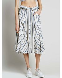 Free People Boardwalk Babe Midi Skirt blue - Lyst