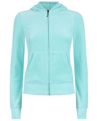 Juicy Couture Palm Logo Velour Hoodie - Lyst