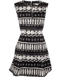 Veronica Beard Woodblock Print Flounce Skirt Dress - Lyst