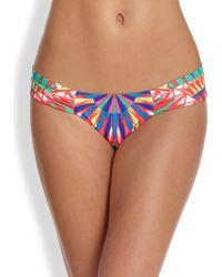 Mara Hoffman Gathered Bikini Bottom - Lyst
