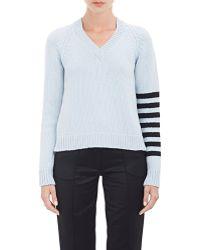 Alexander Lewis - Open Back V-neck Sweater - Lyst