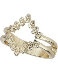 TOPSHOP - Pointed Oval Open Diamond Ring - Lyst