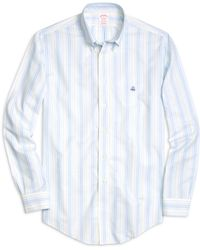 Brooks Brothers Non-Iron Madison Fit Chambray Stripe Sport Shirt - Lyst