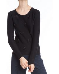Tracy Reese - Embellished Knit Top - Lyst