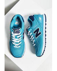 New Balance 574 Pique Polo Running Sneaker blue - Lyst
