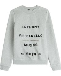 Anthony Vaccarello Printed Sweatshirt - Lyst
