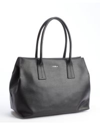 Furla Black Leather Papermoon Tote Bag - Lyst