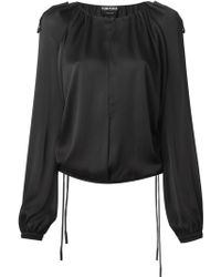 Tom Ford Draped Blouse - Lyst