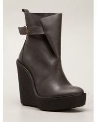 Pierre Hardy Crepe Ankle Boots - Lyst
