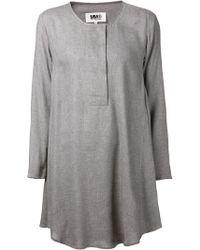 Mm6 By Maison Martin Margiela Shirt Dress - Lyst
