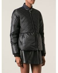 Tory Burch Embroidered Padded Coat - Lyst