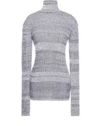 Sonia Rykiel Cotton Ribs Sweater - Lyst