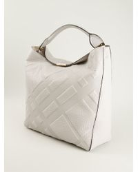 Burberry Embossed Check Tote Bag - Lyst