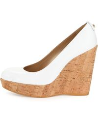 Stuart Weitzman Corkswoon Patent Wedge Pump (Made To Order) - Lyst
