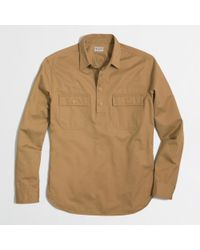J.Crew Factory Cotton Twill Popover - Lyst